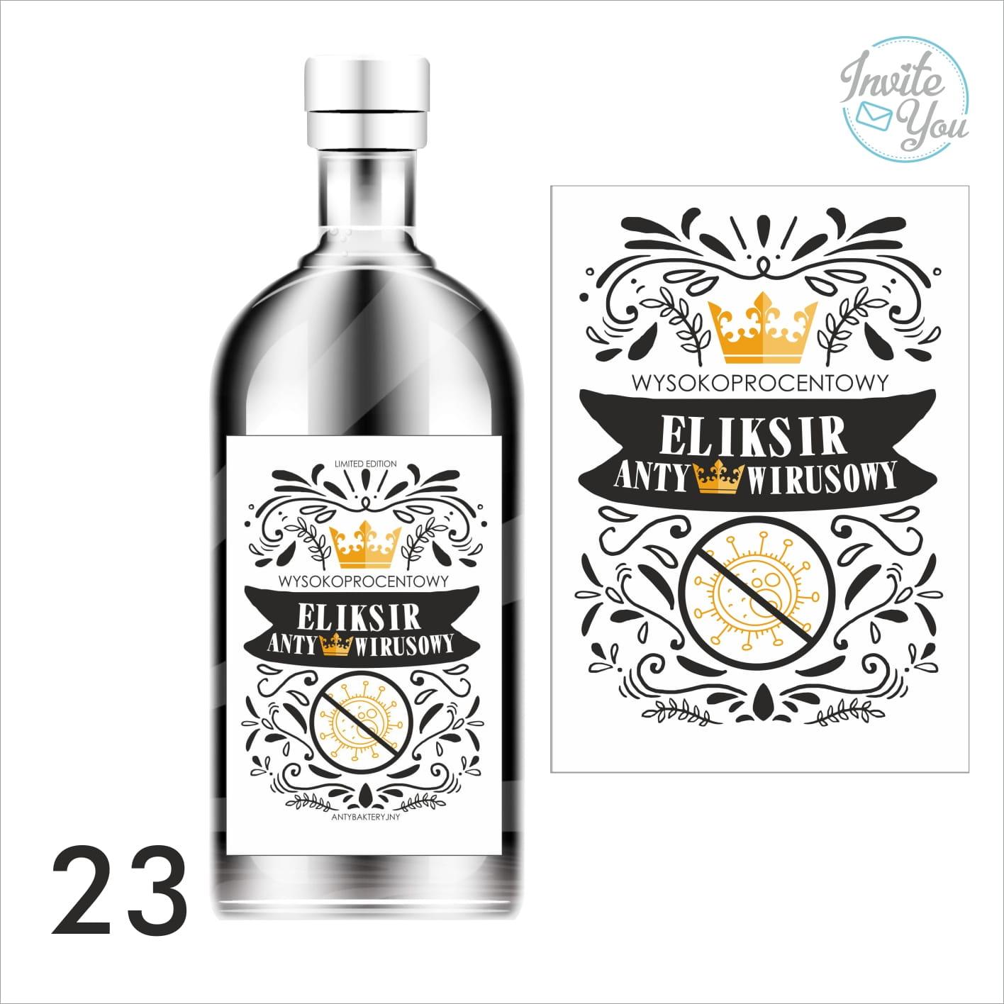 Etykiety Naklejki Na Alkohol Eliksir Antywirusowy Zestaw 10 Szt